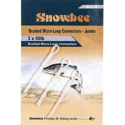 Петли для шнуров Snowbee Micro-Loop Connectors (Jumbo, 50lb)