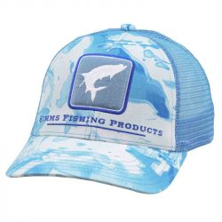 Кепка Simms Tarpon Icon Trucker Cap (Cloud Camo Blue)