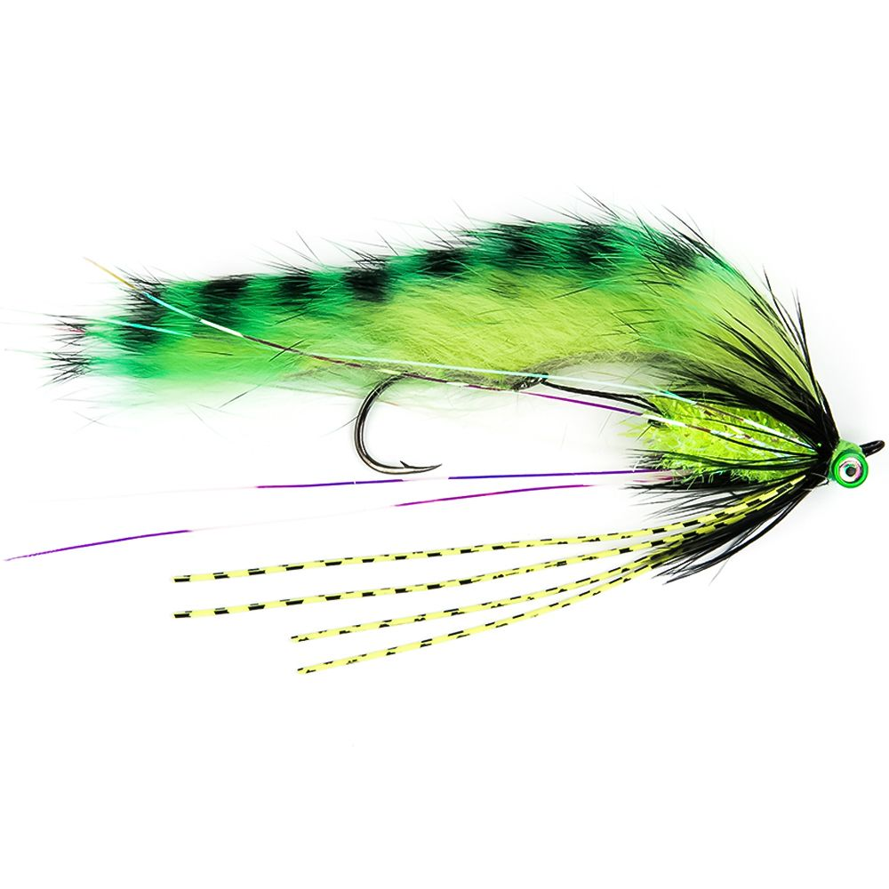 Мушка SF Zonker Leech-Chartreuse Tiger Stripe (#1 (Black/Owner 5411))