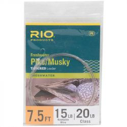 Подлесок Rio Pike/Musky Leader (7.5ft,  20lb/10kg,  15lb Stainless Wire w/Snap)