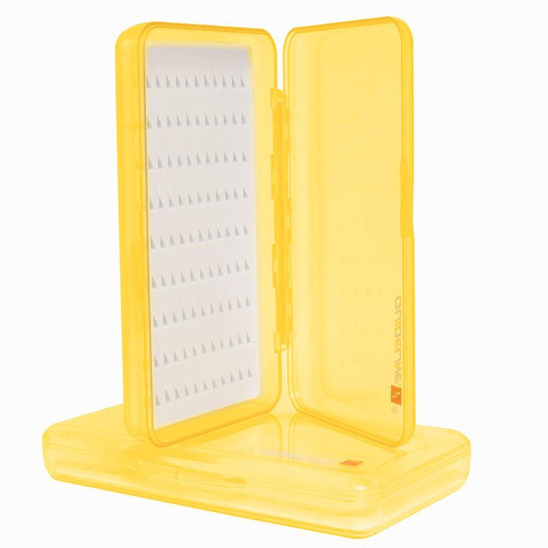 Коробка для мушек Guideline Slim Box Tri-Foam (Yellow)