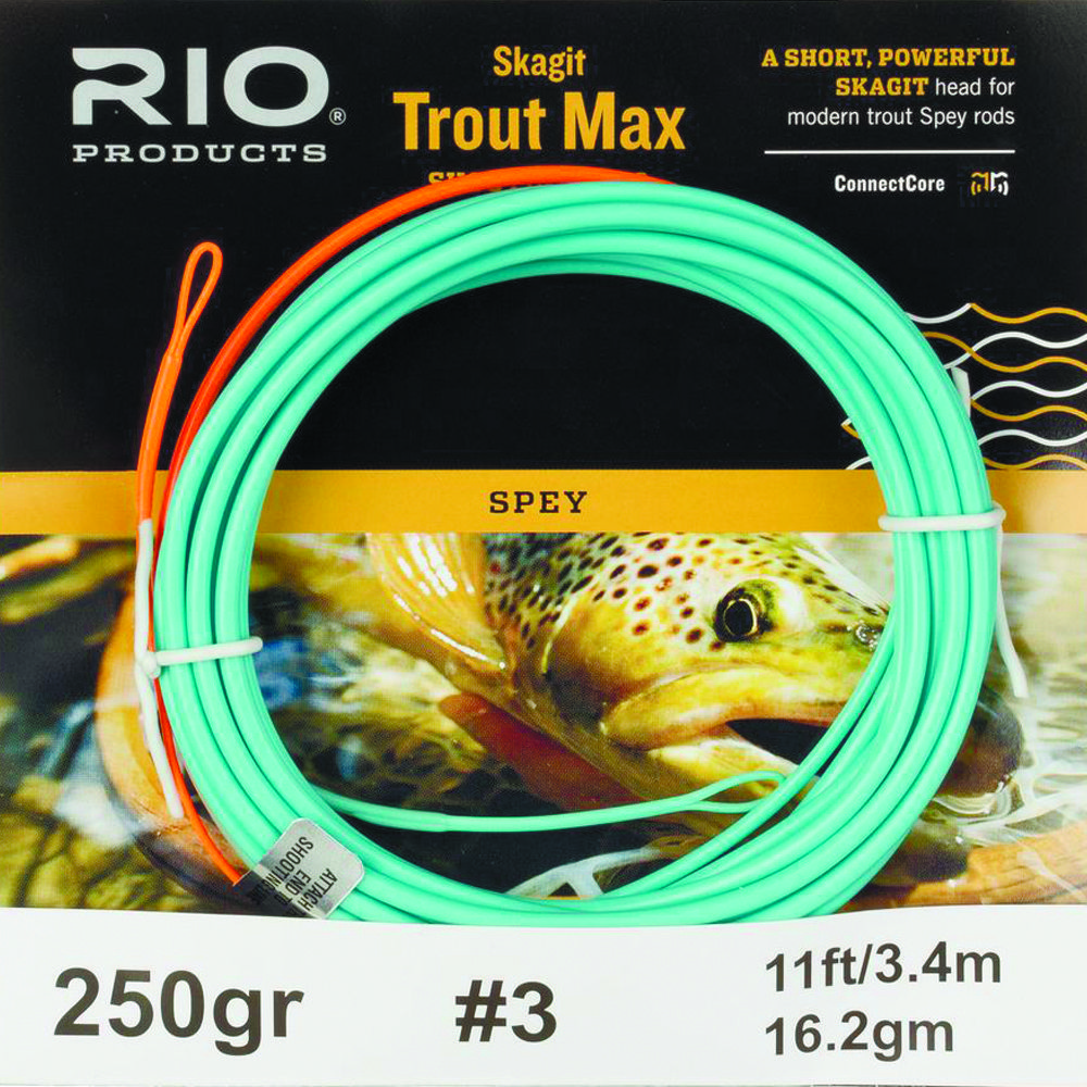 Шнур Rio Skagit Trout Max (200gr, #2, Floating, Teal/Orange)
