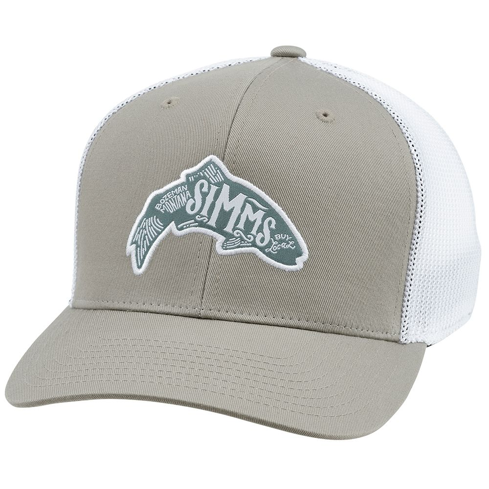 Кепка Simms Flexfit Trucker Cap Woodblock (Trout Coffee)