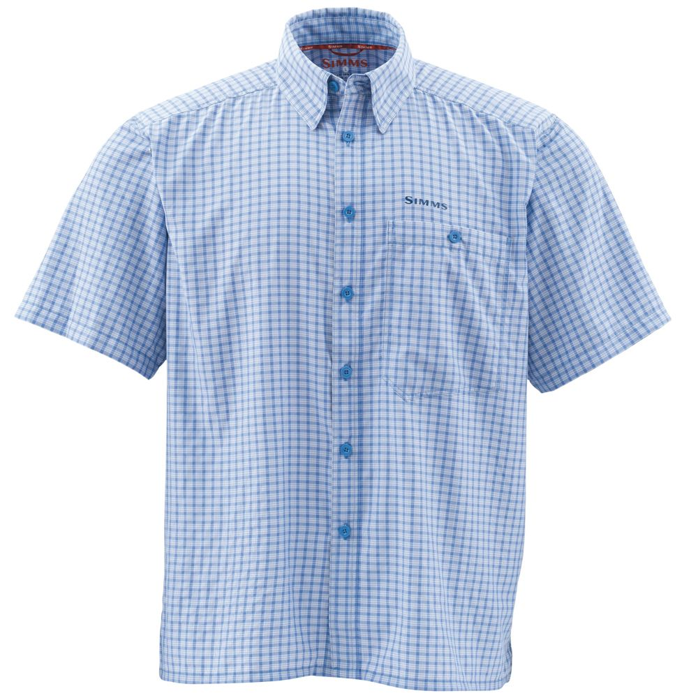 Рубашка Simms Morada SS Shirt (S, Slate Blue Plaid)