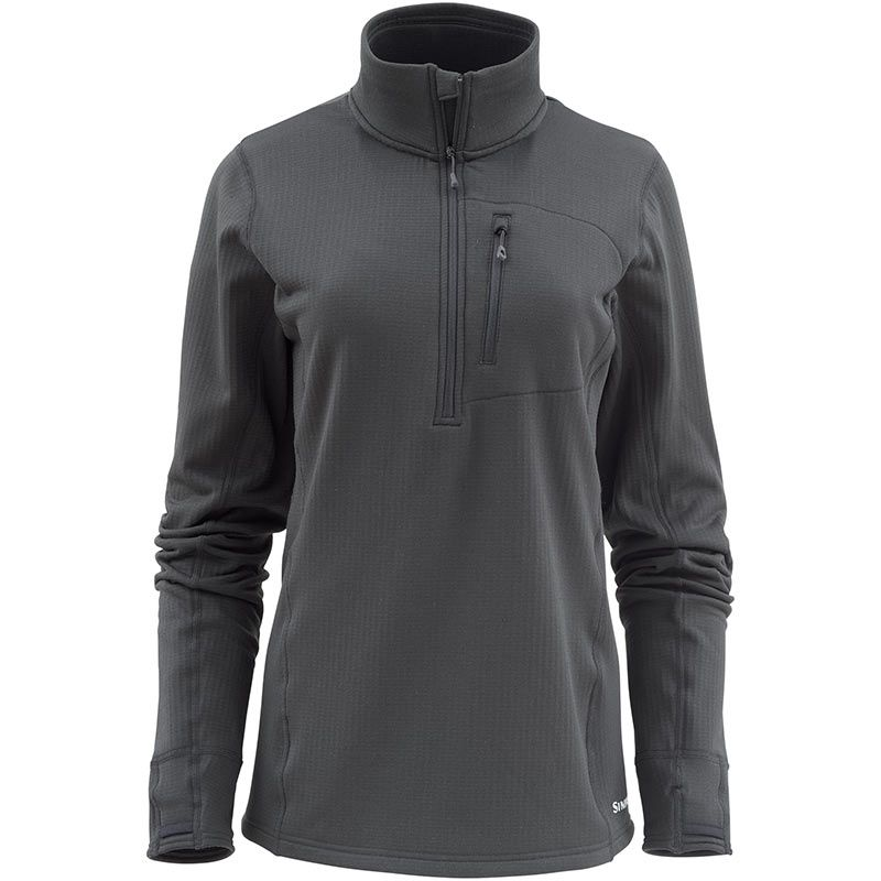 Пуловер Simms Women's Fleece Midlayer 1/2 Zip (XS, Raven)