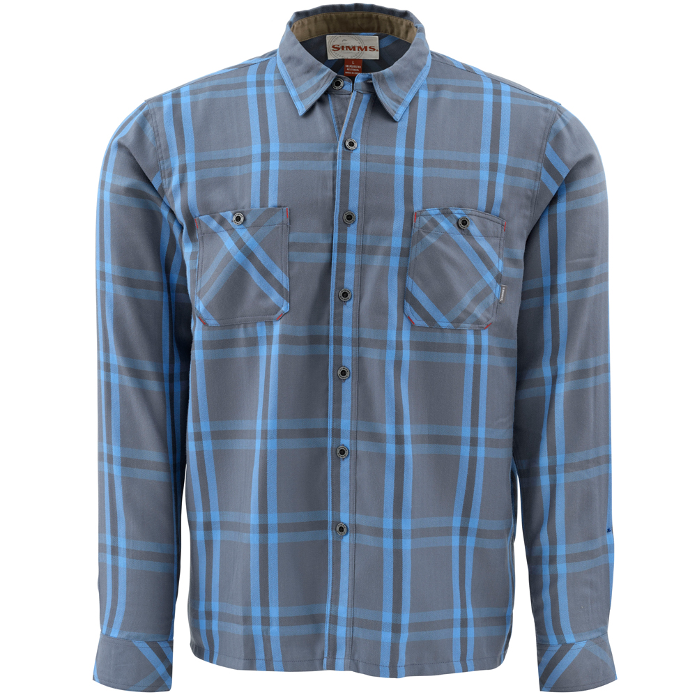 Рубашка Simms Black's Ford Flannel LS Shirt (L, Nightfall Plaid)
