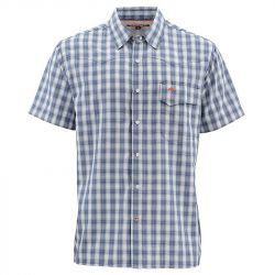 Рубашка Simms Big Sky SS Shirt (S, Oxford Blue Plaid)
