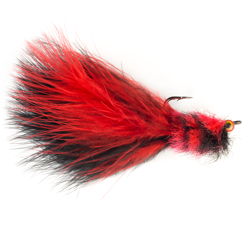 Мушка SF Tarpon Toad Rat-Red & Black (#4/0 (Black Nickel/Owner Aki))