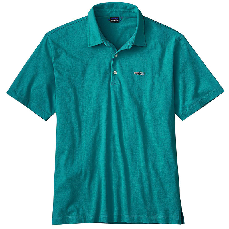 Рубашка Patagonia Polo - Trout Fitz Roy (L, Elwha Blue)
