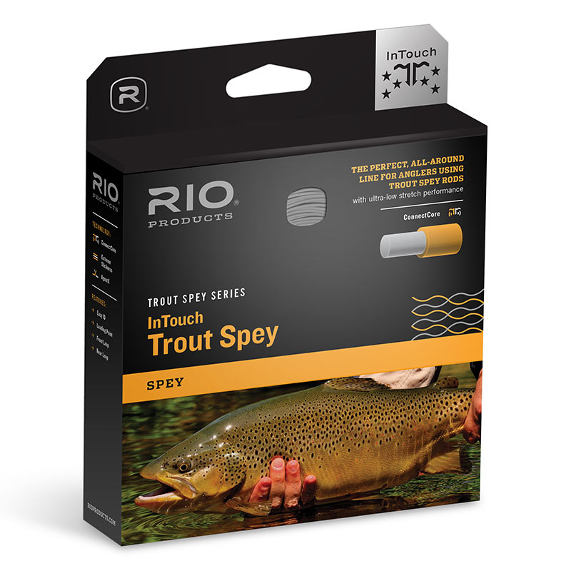 Шнур RIO InTouch Trout Spey (305gr, #4, Yellow/Orange/Light Gray)