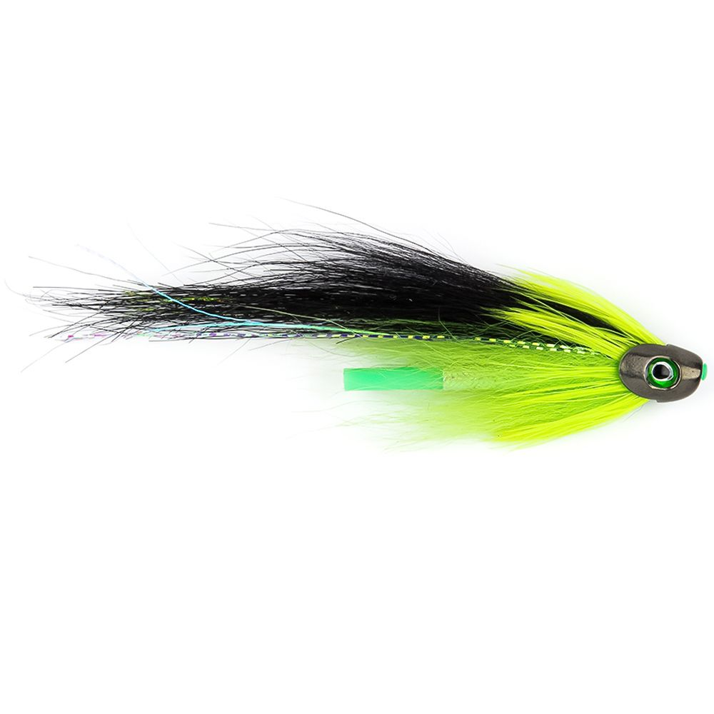 "Мушка SF Sun Ray Chartreuse Fish Skull Tube (4cm (3/4"", Black))"