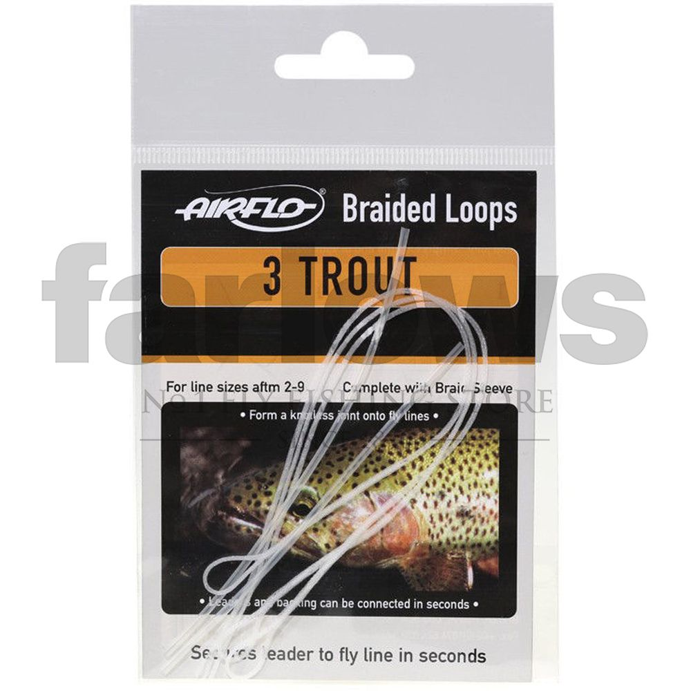 Петли для шнуров Airflo Braided Loops Trout Floating (3 шт., 20lb, 9.1kg)