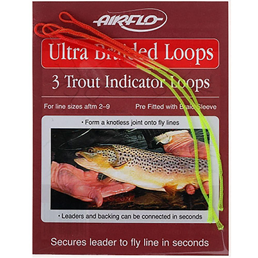 Петли для шнуров Airflo Ultra Braided Loops Trout (UBLT3-IND, 3 шт.)