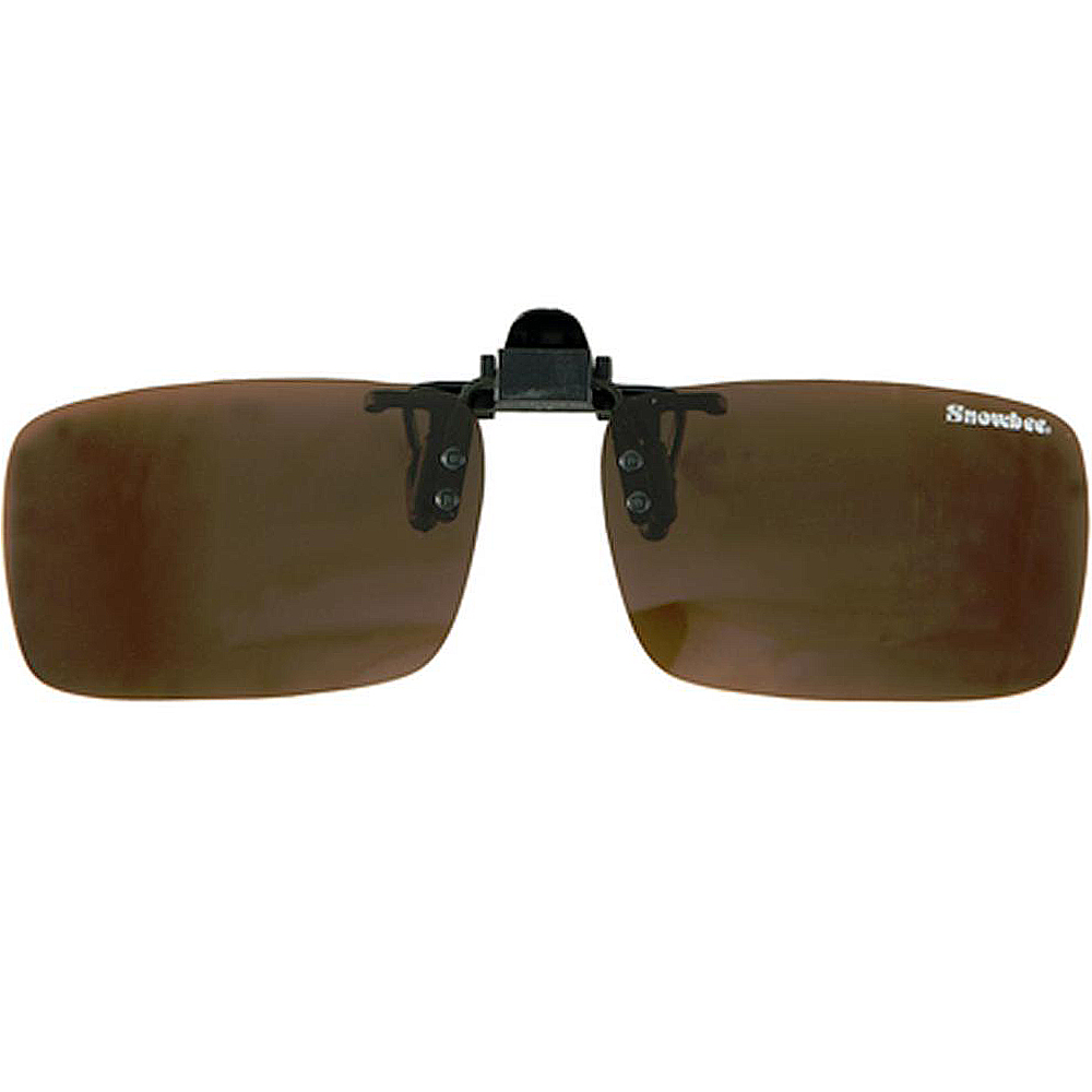 Накладка на очки Snowbee Clip-On Flip-Us Sunglasses (Large, Black/Amber)
