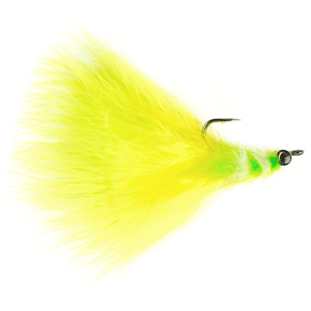 Мушка SF Tarpon Toad Rat-Chartreuse & White (#4/0 (Black Nickel/Owner Aki))