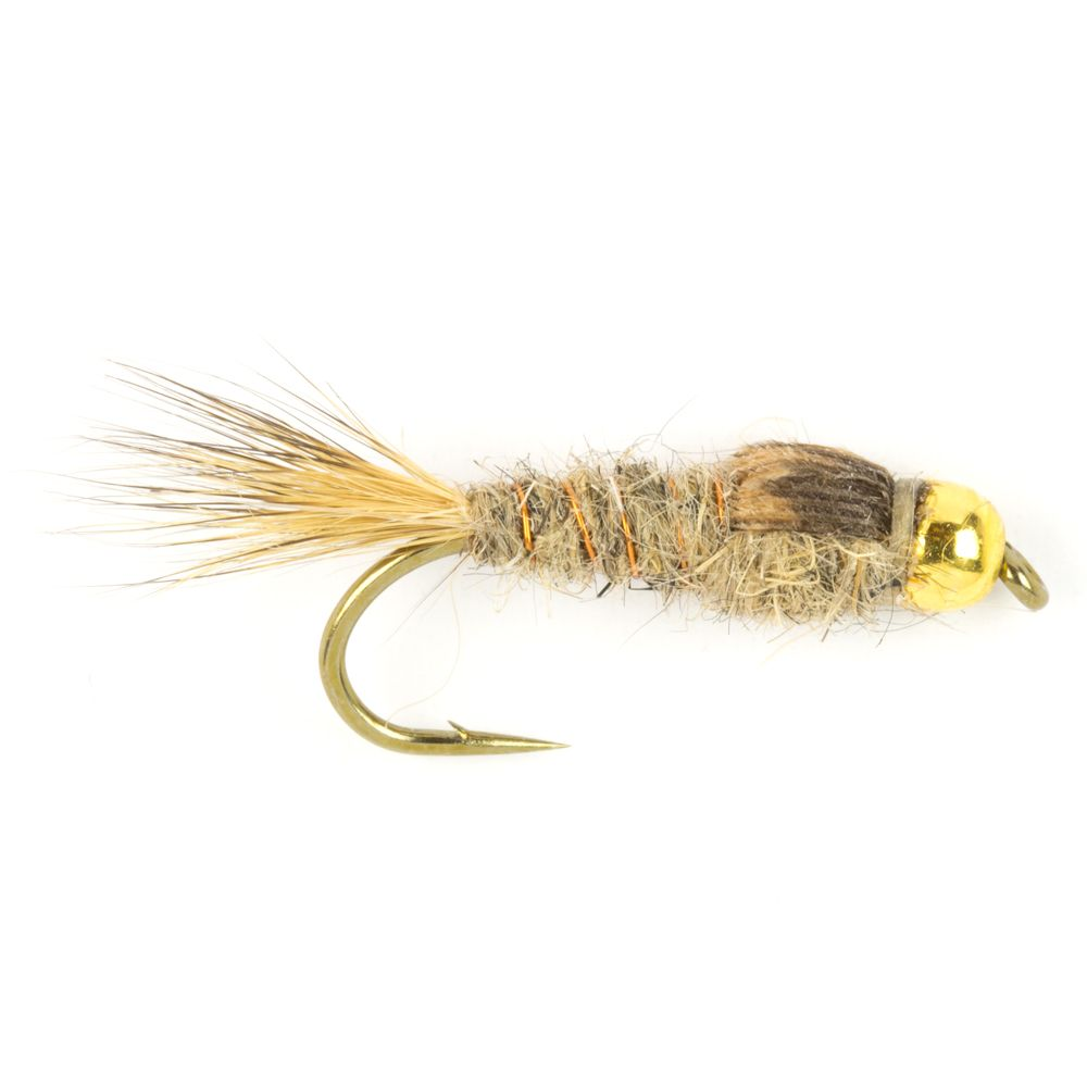 Мушка SF Grey Hare's Ear Tungsten Beadhead Nymph (#12 (Gold/Daiichi 1710))