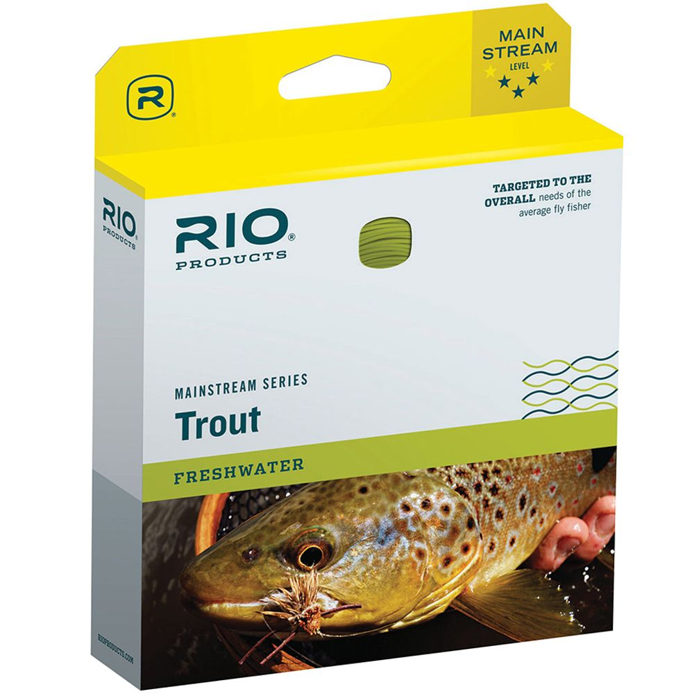 Шнур Rio Mainstream Trout WF (WF7F, Lemon Green)
