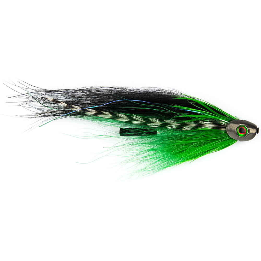 "Мушка SF Sun Ray Green Fish Skull Tube (6cm (1"", Black))"