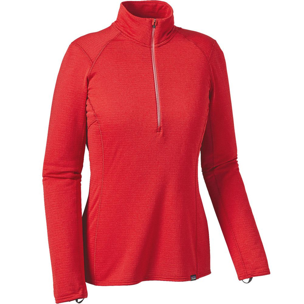 Футболка Patagonia Capilene Thermal Weight Zip-Neck w's (S, French Red-Shock Pink X-Dye)