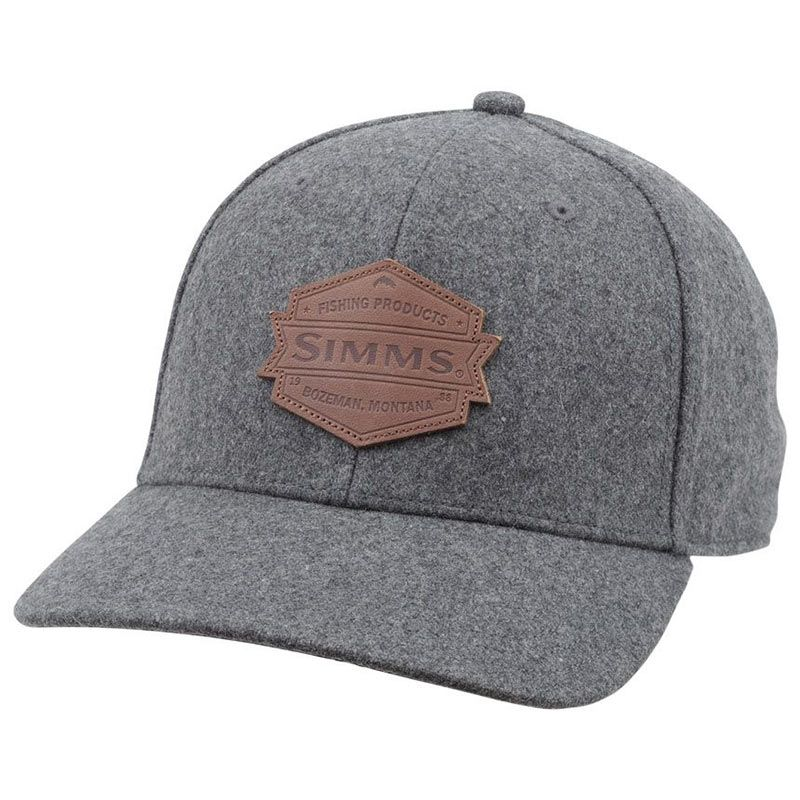 Кепка Simms Wool Leather Patch Cap (Heather Grey)