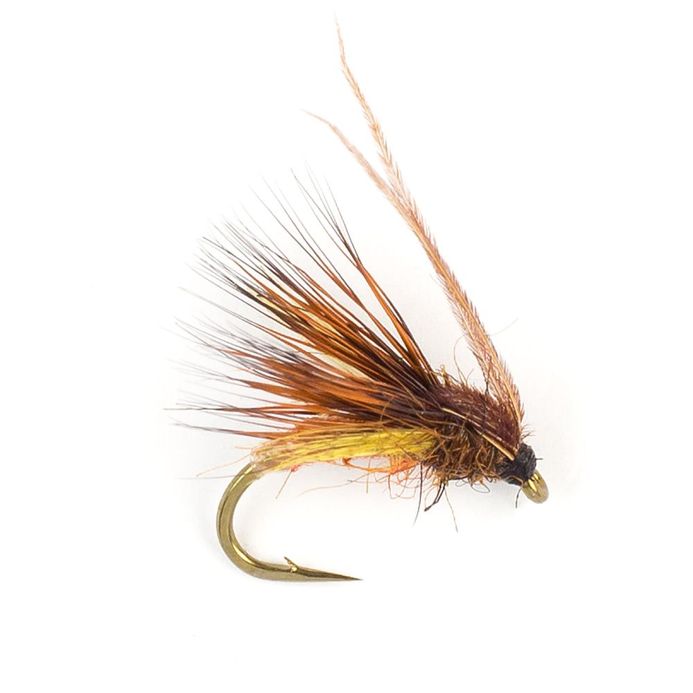 Мушка SF Cinnamon & Brown Emerger Caddis Nymph Mc Phail Series (#14 (Bronze/Kamasan B160))