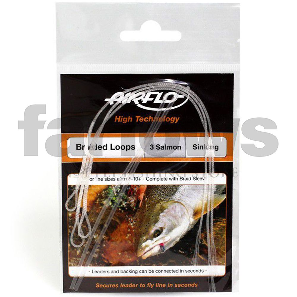 Петли для шнуров Airflo Braided Loops Salmon (3 шт., 30lb, 13.6kg)