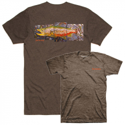 Футболка Simms DeYoung Brown Trout T-Shirt (M, Brown Heather)