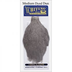 Перо Whiting American Hen Cape (Medium Dyed Dun)