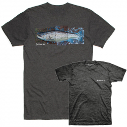 Футболка Simms DeYoung Seatrout T-Shirt (3XL, Charcoal Heather)