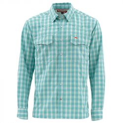 Рубашка Simms Big Sky LS Shirt (S, Aqua Plaid)