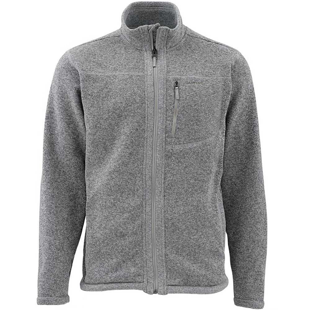 Куртка Simms Rivershed Sweater Full Zip (XL, Smoke)