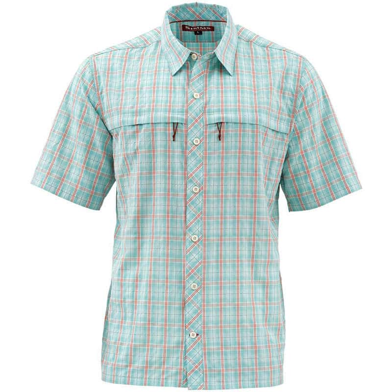 Рубашка Simms Stone Cold SS Shirt (XL, Aqua Plaid)