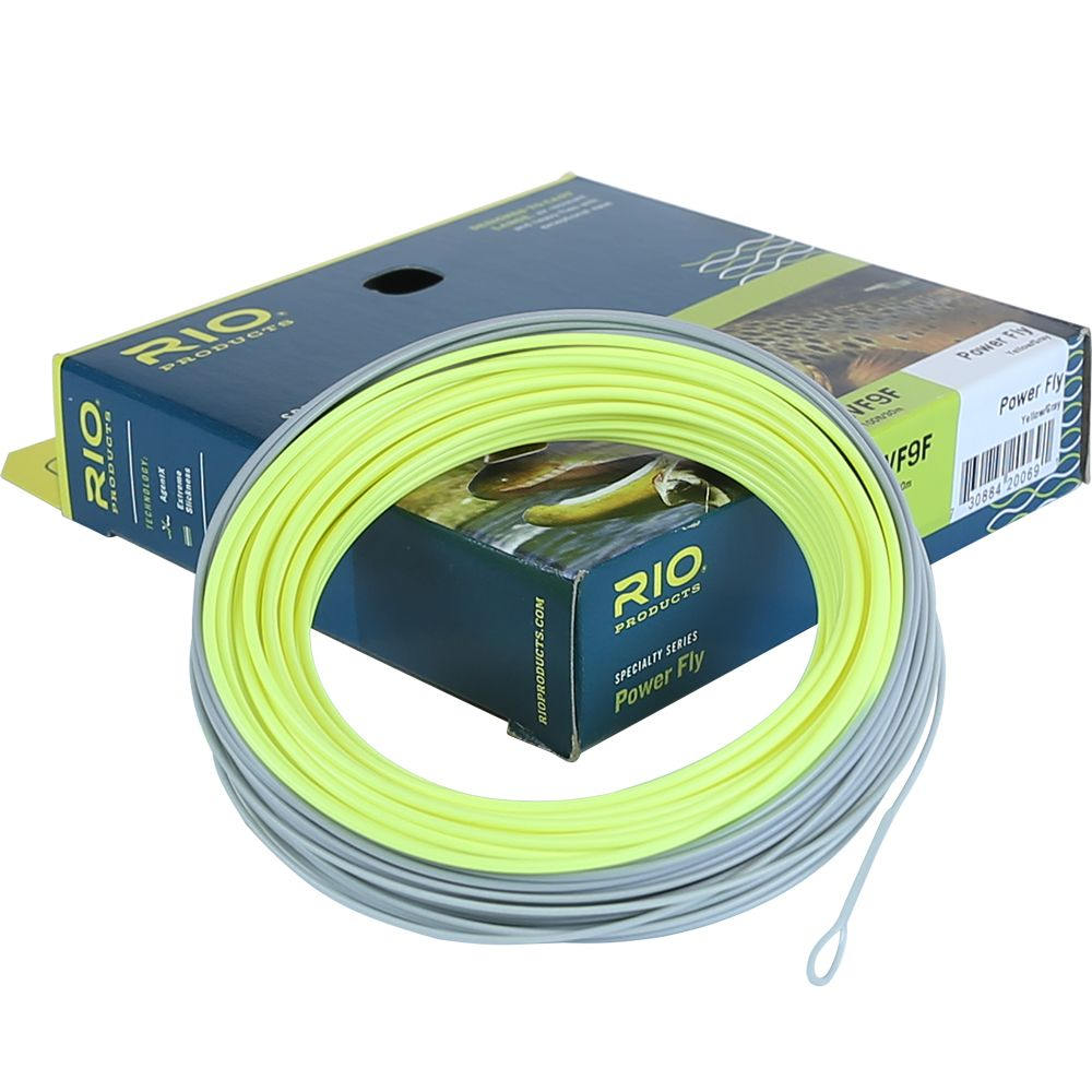 Шнур Rio Power Fly (WF6F, Yellow/Dark Gray)