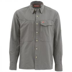 Рубашка Simms Guide LS Shirt - Solid (XS, Pewter)