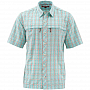 Рубашка Simms Stone Cold SS Shirt (M, Aqua Plaid)